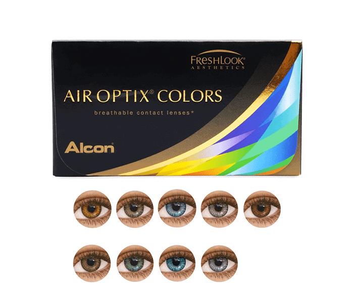 עדשות מגע צבעוניות טבעיות Alcon AirOptix Colors