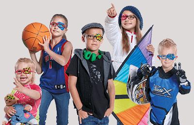 ילדים עם רטיות לטיפול בעין עצלה