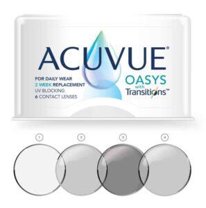 עדשות מגע פוטוכרומטיות Acuvue Oasys With Transitions