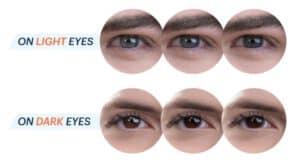 איך נראות עדשות המגע Oasys with Transitions בעיניים